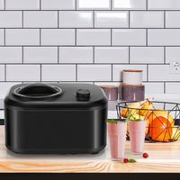 GOPLUS 1 L Eismaschine, Speiseeismaschine mit Automatisch Selbstkühlendem Kompressor 100 W & 3 Betriebsmodi, Joghurtbereiter mit Entnehmbarem Eisbehälter, für Eis Joghurt & Sorbet (Schwarz)