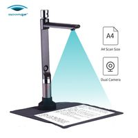 eloam S520 USB-Dokumentenkamera Tragbarer HD-Scanner mit hoher Geschwindigkeit Dual-Kamera A4 Aufnahmegröße Mehrsprachige OCR- / Videoaufzeichnung / PDF-Erstellung mit LED-Licht für Büro und Bildung
