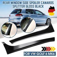 2X Glanz Hinten Fenster Heckspoiler Nachrüstset Splitter For VW Golf 6 MK6 2