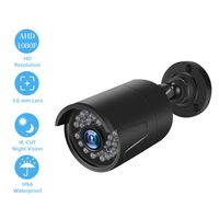 2.0MP 1080P Analog Camera Security Camera Surveillance System Built-in 36pcs IR-CUT LED Lights Intelligent Motion Detection and Alerts System Pal System