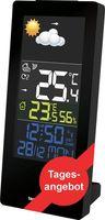 Wetterstation WS 6446 mit Farbdisplay Innentemperatur Außentemperatur Luftfeuchte Wettertendenzen Temperaturtendenzen hochkant
