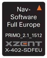 XZENT X-402 SDFEU Navigationssoftware für X-402 auf 8 GB Micro SD Karte