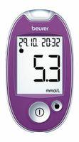 Beurer Blutzuckermessgerät - GL 44 purple mmol/L