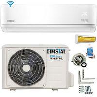 DIMSTAL A++ WiFi/WLAN GoldenFin ECO Smart Klimaanlage Sorglos-Komplett-Set 9000 BTU 2,6kW
