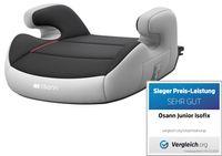 Osann Kindersitz , Sitzerhöhung  Junior Shadow mit ISOFIX - 15 bis 36 kg (3 bis 12 Jahren) - grau , schwarz
