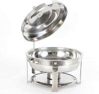 7,5L Rund Chafing Dish Warmhaltebehälter Wärmebehälter Speisenwärmer mit Wärmetank 360mm