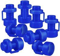 ONVAYA® Trampolin Endkappen | Set mit 8 Pfostenkappen für die Netzstangen des Trampolins | blau