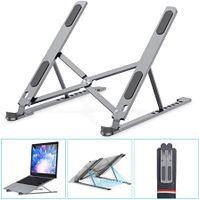 Laptop Ständer, 8-Stufe Höhenverstellbar Notebook Computer Ständer Tragbarer Faltbar Aluminium Laptop Stand Halterung Kompatibel mit Alle Laptops Tablet, MacBook, iPAD, Dell, HP, Huawei, Phones