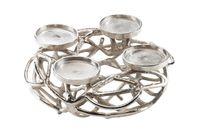 Deko-Kranz rund aus Metall für 4 Kerzen