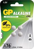 GP A76 LR44 GP Alkaline Knopfzelle 76A (V13GA / L1154), Blister 4