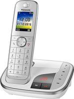 Panasonic KX-TGJ320GW Strahlungsarmes Schnurlostelefon mit Anrufbeantworter, Farbdisplay, Rufnummernanzeige, 18h Sprechzeit, 12 Tage Standby, Freisprechfunktion, Babyfon-Funktion, DECT