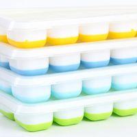 14 Gitter Kunststoff Eiswürfelschale Form Silikon Eiswürfelschale Ices N6C5
