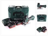 Metabo STA 18 LTX 140 Akku Stichsäge 18 V + 2x LiHD Akku 5,5 Ah + Ladegerät + MetaLoc