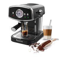 Kaffeemaschine, Espressomaschine, Siebträger, Milchaufschäumer, 19 Bar, Schwarz