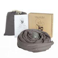 Elastisches Tragetuch - Baumwolle , Farbe:Grey, Größe:L
