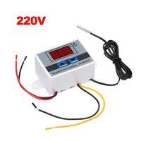 XH-W3001 Intelligenter digitaler Mikrocomputer-Temperaturregler mit LED-Anzeige Mini-Thermostatschalter Heiz- / Kuehl-Temperaturregler mit wasserfester Sensor-Sonde