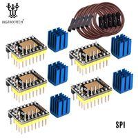 BIGTREETECH TMC2130 V3.0 Schrittmotortreiber lautlos mit Kühlkörper STEP / DIR- und SPI-Modus 3D-Druckerteile Kompatibel mit SKR V1.3 MKS GEN L-Steuerkarte