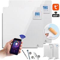 KESSER® Infrarotheizung mit APP WiFi Funktionen Thermostat Elektroheizung LCD-Display Digital Timer Wandheizung Infrarot Heizung Heizkörper Infrarotheizkörper Heizpaneel Inkl.Standfüßen, Watt:1x 425 Watt