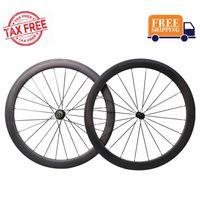 2019 Bester Laufradsatz 50mm 700C Carbon Laufradsatz Rennrad Drahtreifen Felge Shimano 10/11 Speed 1510g (Classic Laufradsatz)