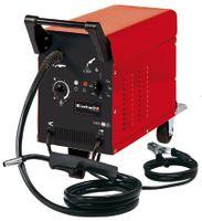 Einhell TC-GW 150 Schutzgas-Schweissgerät; Schweißschirm; Schutzgasschlauch; Gurtsystem; Massekabel inkl. Masseklemme; Schlauchpaket inkl. Schweißbrenner; Druckminderer