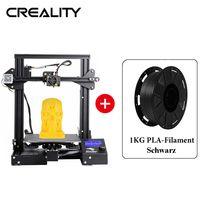 Creality 3D Ender-3 pro 3D Drucker DIY Kit, Druckgröße 220x220x250mm + 1KG Schwarz PLA-Filament