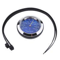 Motorrad Tachometer Drehzahlmesser Kilometerstand Gauge Zifferblätter zur Verfügung Thermometer - Blau wie beschrieben