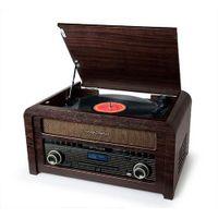 Muse MT-115 DAB, Plattenspieler mit Direktantrieb, Halbautomatisch, Schwarz, Holz, Holz, 45 RPM, 33,45,78 RPM