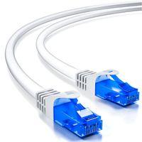 deleyCON 15m CAT.6 Ethernet Gigabit Lan Netzwerkkabel RJ45 CAT6 Kabel Patchkabel U/UTP Kompatibel zu CAT.5 CAT.5e CAT.6a Cat.7 - Weiß