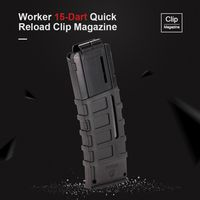 Arbeiter 15 Darts Quick Reload Clip Magazin Spritzguss Magazin Clip fuer Nerf Spielzeugpistole