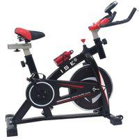 ISE Profi Indoor Cycle Ergometer Heimtrainer mit LCD Anzeige,Armauflage,Pulsgurt&gepolsterte,8kg Schwungrad,Fitnessbike Speedbike SY-7802