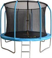 Trampolin - 305 cm - mit Sicherheitsnetz und Leiter - hellblau