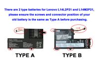 4050mAh Akku für Lenovo 5B10G78610, 5B10G78612, L14L2P21, l14M2P21