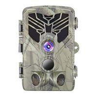 Wildkamera 1080P mit 120 ° Erfassungsbereich Bewegungsaktivierte Nachtsicht Wasserdicht für Wildlife-Überwachung