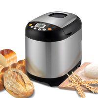 TurboTronic / Brotbackautomat / silber Edelstahl /  500-1000g / 550W / 19 Programma u.a. Joghurt, glutenfreies Brot, Marmelade