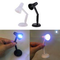 1:12 Puppenhaus Miniatur Tulpe Form Tisch Lampe LED Licht Lampe Leuchte