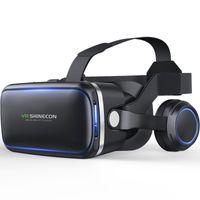 3D Virtual VR Glasses,VR Brille Kopfhörer VR Headset für Smartphones- schwarz