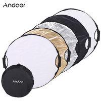 Andoer 110cm 5 in 1 Runde Collapsible Multi Disk Portable Circular Foto Fotografie Studio Video Light Reflektor