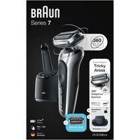 Braun Series 7 70-S7200cc Akku-Rasierer + Scherteil, Farbe:Schwarz/Silber