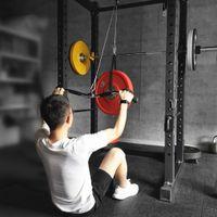 Fitness DIY Riemenscheibe Kabel Bizeps Trizeps Arm Blaster Maschine Stahldraht