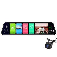 Auto Videokamera Dash Cam Fahrrekorder DVR Universal 12 Zoll 4G Android 8.1 Dual Lens Rš¹ckspiegel 2G RAM 32G ROM WiFi GPS ADAS