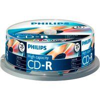 Philips CD-Rohlinge, 90Min, 800MB, Speed 40x, Spindel (25 Disc)