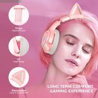 ONIKUMA K9 Gaming Kopfhörer Stereo Headset mit Mikrofon Für PC / PS4 / Xbox One, Pink