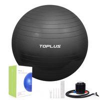 TOPLUS Gymnastikball Sitzball Extra dicker Sportball Yogaball (Büro & Hause & Fitnessstudio),65cm,schwarz