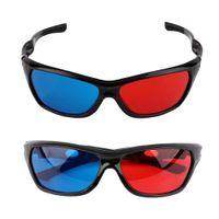 2 x  Schwarz Rahmen Rot Blau 3D Brille Für Anaglyph Movie Game 3D Film