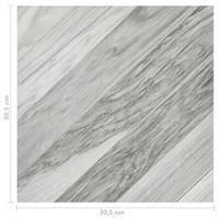 vidaXL 55x PVC-Fliesen Selbstklebend 5,11m² Hellbraun Vinyl-Fliesen Bodenbelag