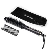 Vidabelle Glättbürste zum Glätten und Stylen von allen Haartypen | Haarglätter Bürste mit 4 Temperaturstufen | Haarglättungsbürste mit Abschaltautomatik | inkl. Bürstenkopf + Anti Spliss Borsten