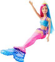 Barbie Dreamtopia Meerjungfrau Puppe (pinkes und blaues Haar), Anziehpuppe