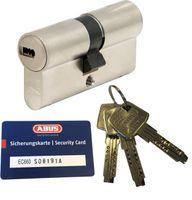 ABUS EC660 Doppelzylinder Länge (a/b) 30/30mm (c=60mm) mit Sicherungskarte und 3 Schlüssel, Not-u. Gefahrenfunktion und SKG** Bohrschutz