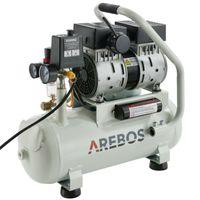 Druckluft Flüsterkompressor Luftkompressor 500W 12L Druckbehälter ölfrei 54.5dB