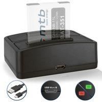 Dual-Ladegerät (USB) für Canon NB-11L NB-11LH / Ixus 125 HS, 240 HS, 265 HS.. Powershot A3500 IS, SX400 IS .. - weitere Kameramodelle s. Liste!
